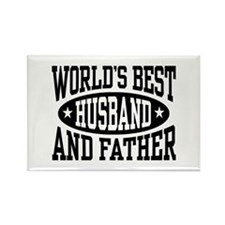 Best Husband and Father Rectangle Magnet