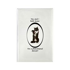 Dancing Cat Rectangle Magnet