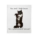 Dancing Cat Throw Blanket