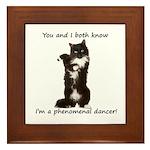Dancing Cat Framed Tile