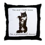 Dancing Cat Throw Pillow