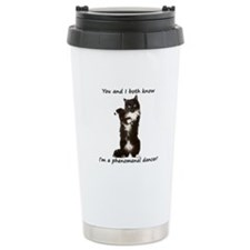 Dancing Cat Stainless Steel Travel Mug