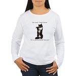 Dancing Cat Women's Long Sleeve T-Shirt