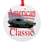 mustang fstbck Round Ornament
