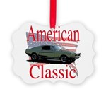 mustang fstbck Picture Ornament