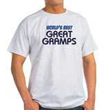 &amp;quot;WORLD'S BEST GREAT GRAMPS&amp;quot; T-Shirt
