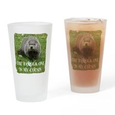 Cousin of Famous Groundhog Drinking Glass