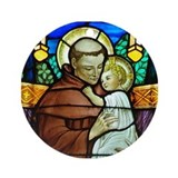 St Anthony of Padua in stained glass Ornament (Rou