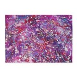 Deep Purple Starfield 5'x7'Area Rug