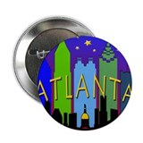 "Atlanta Skyline nightlife 2.25"" Button"