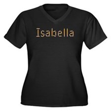 Isabella Pencils Women's Plus Size V-Neck Dark T-S