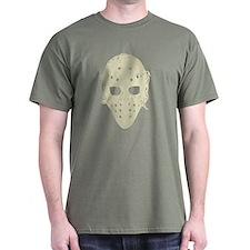 Vintage Hockey Goalie Mask (dark) T-Shirt