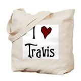 I Heart (Love) Travis Tote Bag