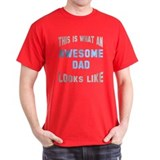 Awesome Dad Looks Like T-Shirt