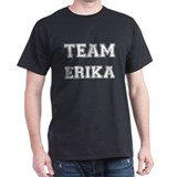Team Erika White Black T-Shirt