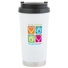 Be The Solution Squares Ceramic Travel Mug