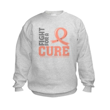 Uterine Cancer Fight For A Cure Kids Sweatshirt