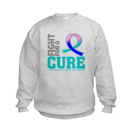 Thyroid Cancer Fight For A Cure Kids Sweatshirt