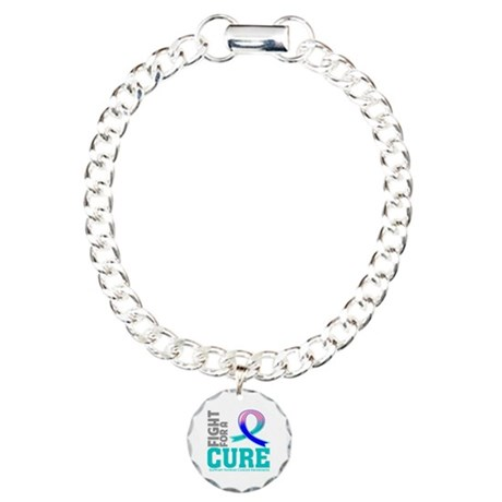 Thyroid Cancer Fight For A Cure Charm Bracelet, On