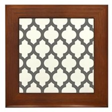 Moroccan Collection - Grey Framed Tile