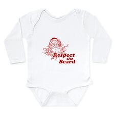 Respect the Beard Long Sleeve Infant Bodysuit