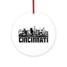 Cincinnati Skyline Ornament (Round)