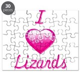 I Love/Heart Lizards Puzzle