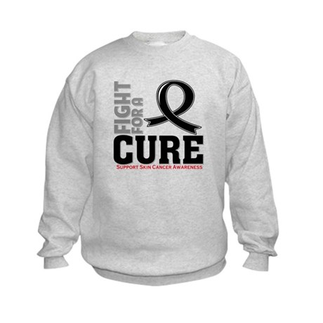 Skin Cancer Fight For A Cure Kids Sweatshirt