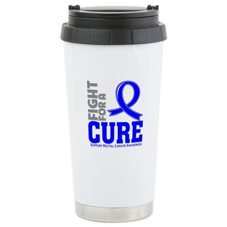 Rectal Cancer Fight For A Cure Ceramic Travel Mug