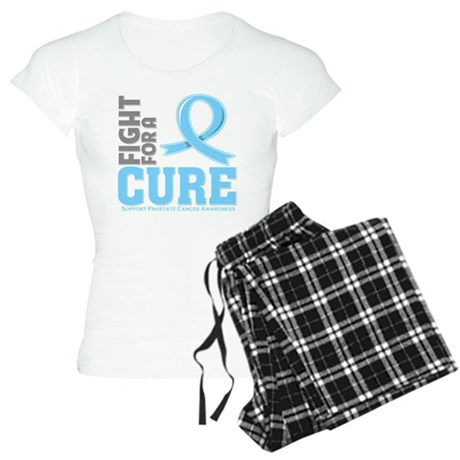 Prostate Cancer Fight For A Cure Women's Light Paj