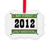 My First 1/2 Marathon Bib - 2012 Picture Ornament