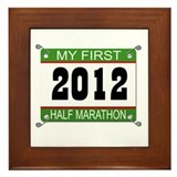 My First 1/2 Marathon Bib - 2012 Framed Tile