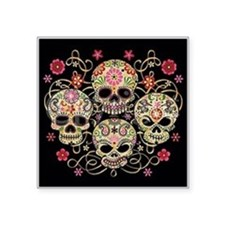 "day of the dead Square Sticker 3"" x 3"""