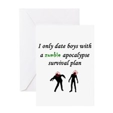 Zombie Dating Greeting Card