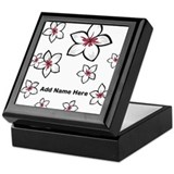 Personalized frangipani floral design Keepsake Box