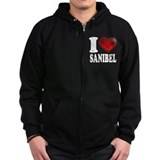 I Heart Sanibel Zip Hoody