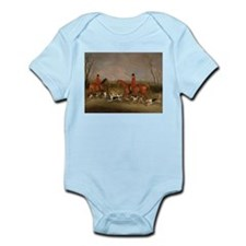 Hunters on Horses with Their Dogs Infant Bodysuit