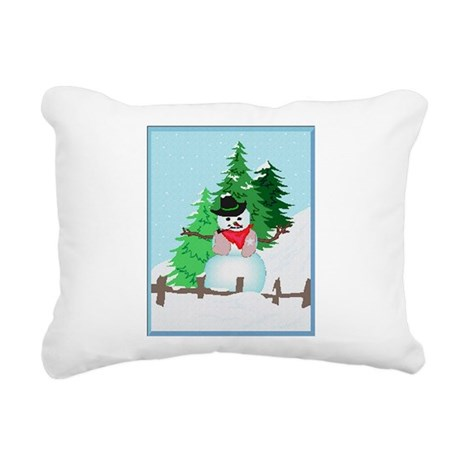 snow9.PNG Rectangular Canvas Pillow