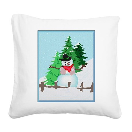 snow9.PNG Square Canvas Pillow