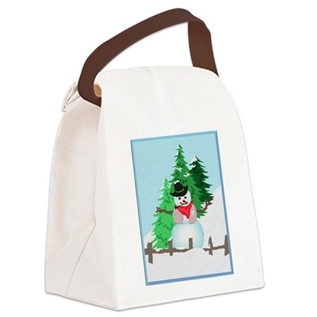 snow9.PNG Canvas Lunch Bag