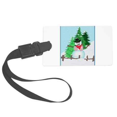 snow9.PNG Large Luggage Tag
