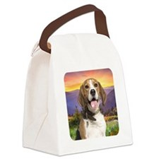 Beagle Meadow Canvas Lunch Bag
