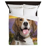 Beagle Meadow Queen Duvet
