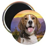 "Beagle Meadow 2.25"" Magnet (10 pack)"