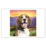 Beagle Meadow Large Poster