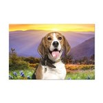 Beagle Meadow Mini Poster Print