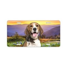 Beagle Meadow Aluminum License Plate