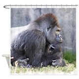 Gorilla in Thought Shower Curtain