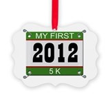 My First 5K (Bib) - 2012 Ornament