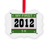 My First 5K (Bib) - 2012 Picture Ornament